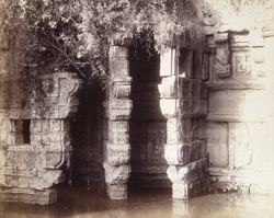 Close view of carved brackets of the Rani Wav or Queen's Well, Patan
